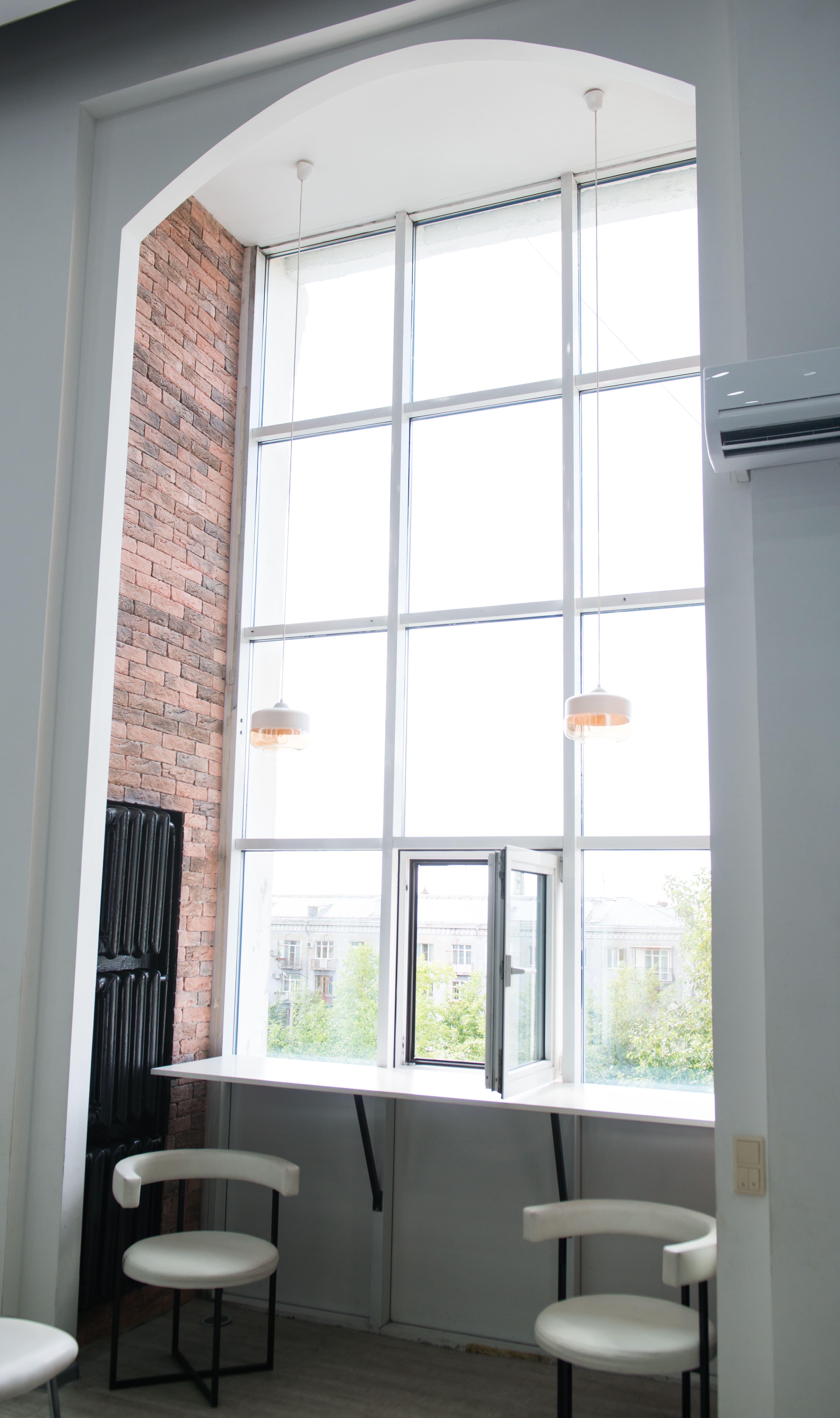 Пластиковое окно - арка (вид сбоку)